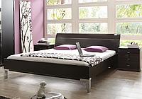 Кровать 180х200,черная матовая ,  Миро ,Германия