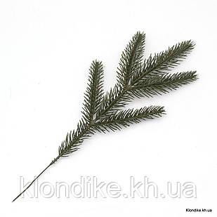 Веточка Хвои, Литая, Пластик, 23 см, Зелёная (1 шт.)