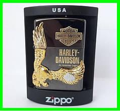 Зажигалка ZIPPO Бензиновая Зиппо (Harley - Devidson Black)