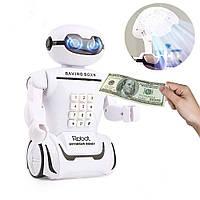 Детская копилка сейф-ночник Robot Piggy Bank с кодовым замком
