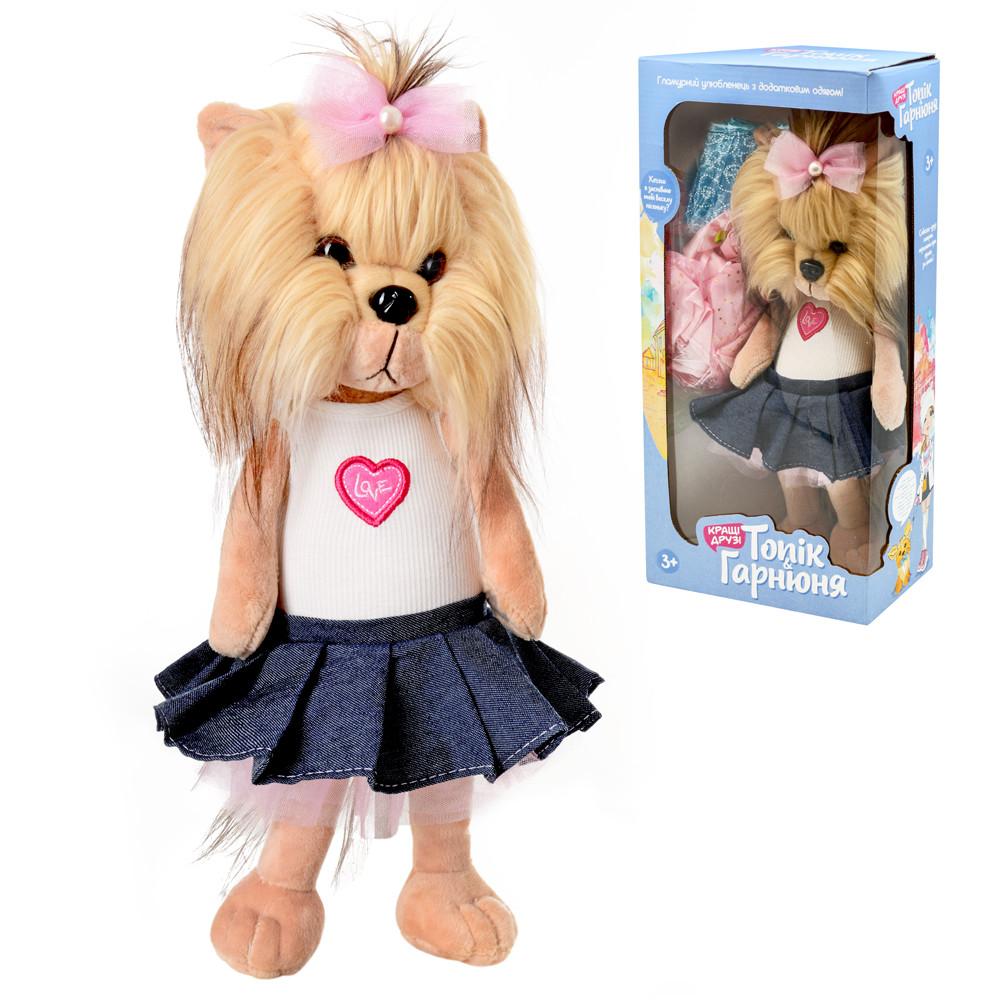 Мягкая игрушка собка музыкальная в платье интерактивная собака
