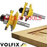 Фрези VOLFIX d8 з 2х фрез для меблевої обв'язки об'єднані рамкові, фото 4