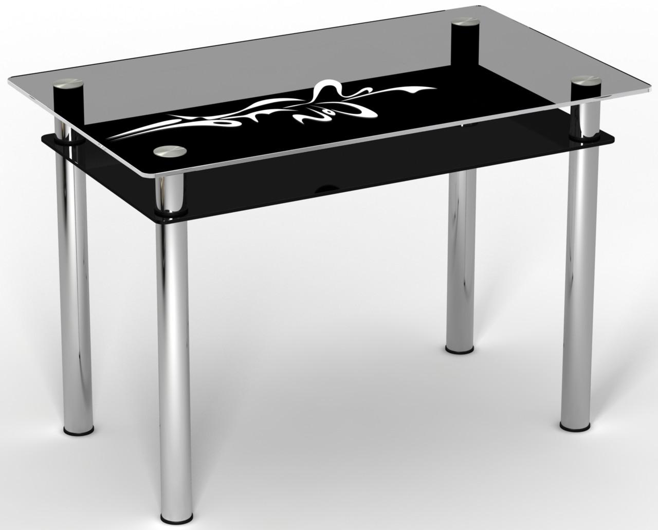 Стол двухполочный на хромированных ножках Стрела ТМ Sentenzo