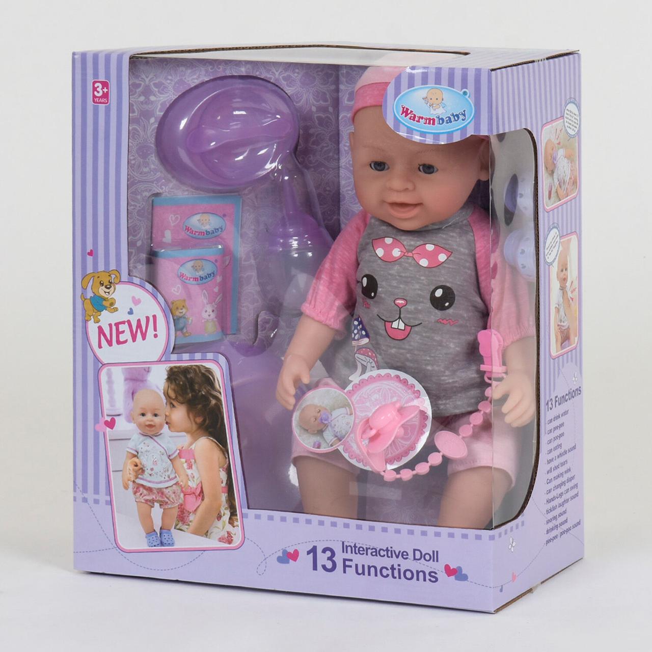 """Кукла Реборн (пупс), девочка """"Warm Baby"""" 13 функций, звуковые эффекты, на батарейках вид 10"""
