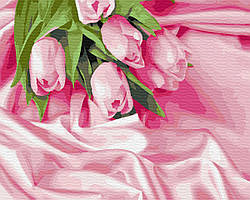 Картина по номерам Нежные тюльпаны 40х50 см, BrushMe (GX34760)