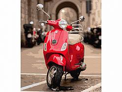 Картина по номерам пейзаж Красный мотоцикл 40х50 см, BrushMe (GX34796)