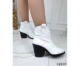 Зимние ботинки казаки питон, фото 4