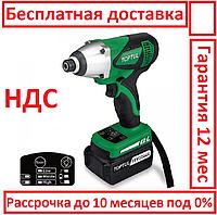 Toptul KPBA0840E. 18 вольт. 2 аккумулятора. Шуруповерт аккумуляторный, профессиональный, электрошуруповерт