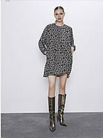 Женское свободное платье мини oversized бренд Zara