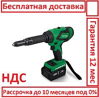 Заклепочник аккумуляторный, клепальник, 3.2-6.4 мм, 18V, 8200 Нм, Toptul KPRA0306E