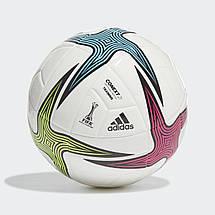 Мяч футбольный Adidas Conext 21 Training Ball №4 GK3491 Белый, фото 3
