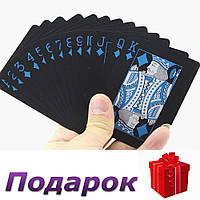 Колода игральных карт The Black водонепроницаемые  Черный, фото 1