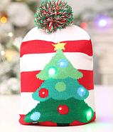 Шапка новогодлняя светящаяся, фото 6