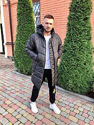 Зимняя мужская удлиненная куртка. Стильная, качество Люкс! До -30. Черная. XS, S, M, L, XL, XXL