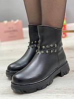 Ботинки женские зимние 8 пар в ящике черного цвета 36-40, фото 5