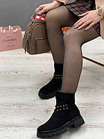 Ботинки женские зимние 8 пар в ящике черного цвета 36-40, фото 3