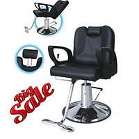 Кресла парикмахерские с подголовником и регулируемой спинкой для барбершопа ZD-302B