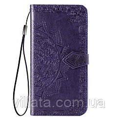 Кожаный чехол (книжка) Art Case с визитницей для Xiaomi Redmi 4a Фиолетовый