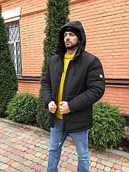 Зимняя мужская куртка. Стильная, качество Люкс! До -30. Черная. XS, S, M, L, XL, XXL