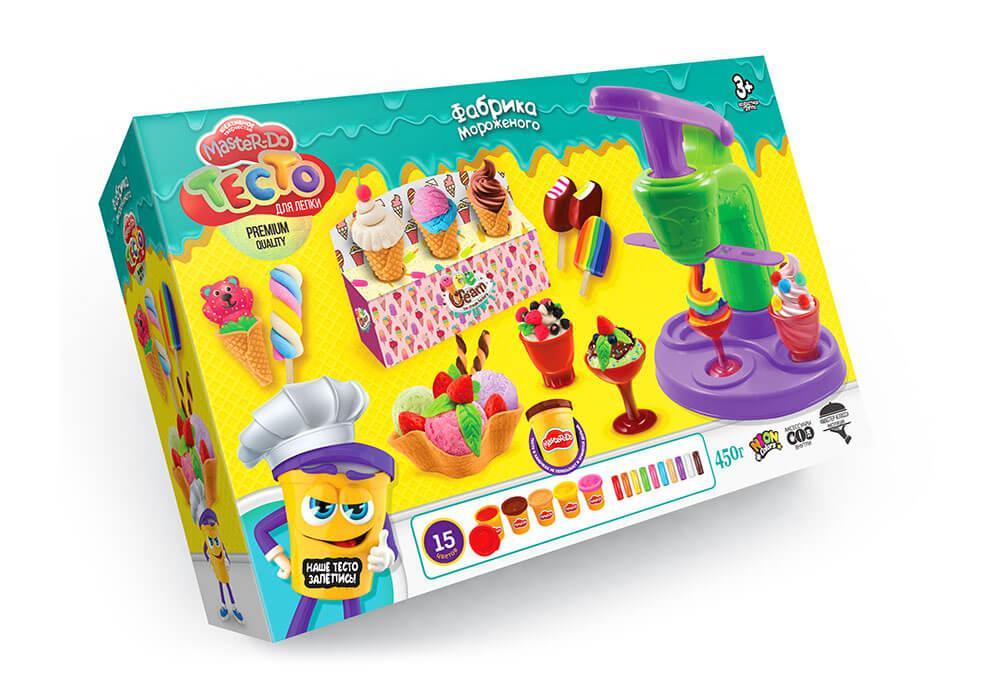 Набор для игры - Тесто для лепки Фабрика мороженого укр. язык TMD-06-01U
