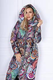 Женская куртка с капюшоном на змейке 44-0266
