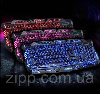 Ігрова клавіатура з підсвічуванням блискавка Atlanfa M200L Дротова клавіатура Razer з трьома режимами
