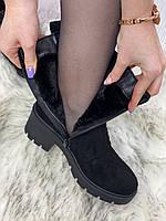 Ботинки женские зимние 8 пар в ящике черного цвета 36-40, фото 7
