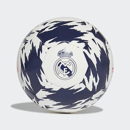 Мяч футбольный Adidas Real Madrid Club FT9091 №5 Белый, фото 2