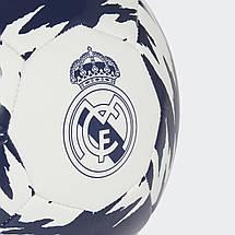 Мяч футбольный Adidas Real Madrid Club FT9091 №5 Белый, фото 3