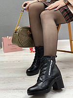 Ботинки женские зимние 8 пар в ящике черного цвета 35-40, фото 3