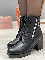 Ботинки женские зимние 8 пар в ящике черного цвета 35-40, фото 4