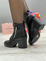 Ботинки женские зимние 8 пар в ящике черного цвета 35-40, фото 5
