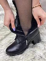 Ботинки женские зимние 8 пар в ящике черного цвета 35-40, фото 6
