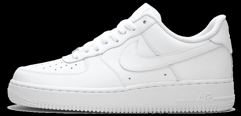 Кроссовки Nike Air Force One Low White Белые мужские