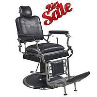 Мужское Парикмахерское кресло с подголовником на гидравлике для барбершопа профессиональные Barber кресла B026