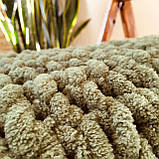 Плюшевий плед із пряжі Alize Puffy зелений, фото 3