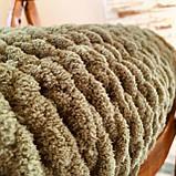 Плюшевий плед із пряжі Alize Puffy зелений, фото 4