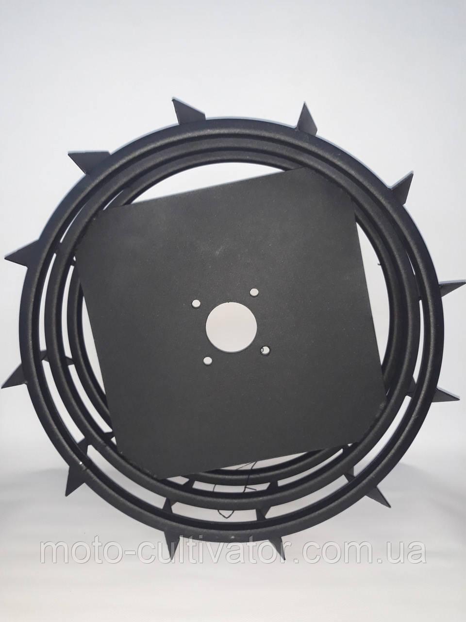 Грунтозацепы для мотоблока усиленные (железные колеса) Ø 550