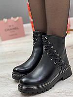 Ботинки женские зимние 8 пар в ящике черного цвета 36-41, фото 4