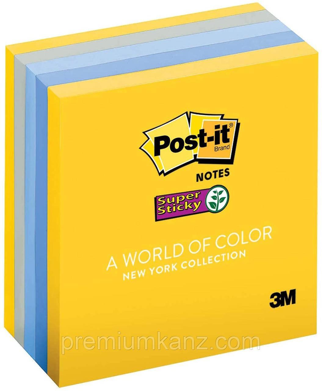 3M Post-It Super Sticky кольорові стікери (5 блоків, 450 листів)