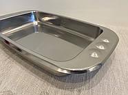 Лазаньер, блюдо для запекания ZEPTER (Цептер), нержавеющая сталь, Швейцария, фото 3