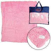 Плед микрофибра «Grass» односторонний, 220х240 Розовый