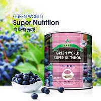 Лучший комплекс витаминов--порошок из черники.Витаминный баланс,антиоксиданты,клетчатка.300 грамм, Green World