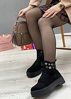 Ботинки женские зимние 8 пар в ящике черного цвета 36-40, фото 2