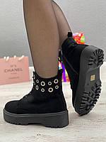 Ботинки женские зимние 8 пар в ящике черного цвета 36-40, фото 6