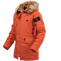 Оригінальна чоловіча куртка аляска Snorkel Parka Airboss 171000133223 (помаранчева)