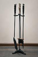 """Камінний набір ручної роботи """"Сафарі-2"""", з стабілізованого граба"""