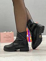 Ботинки женские зимние 8 пар в ящике черного цвета 36-41, фото 5