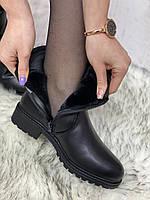Ботинки женские зимние 8 пар в ящике черного цвета 36-41, фото 7