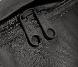 Женский рюкзак-сумка канкен черный 16 л. с коричневыми ручками Fjallraven Kanken classic No2, фото 8